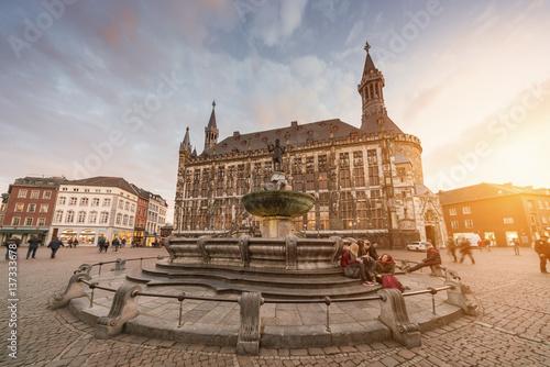 Fotobehang Florence Aachen Aken Aix-La-Chapelle
