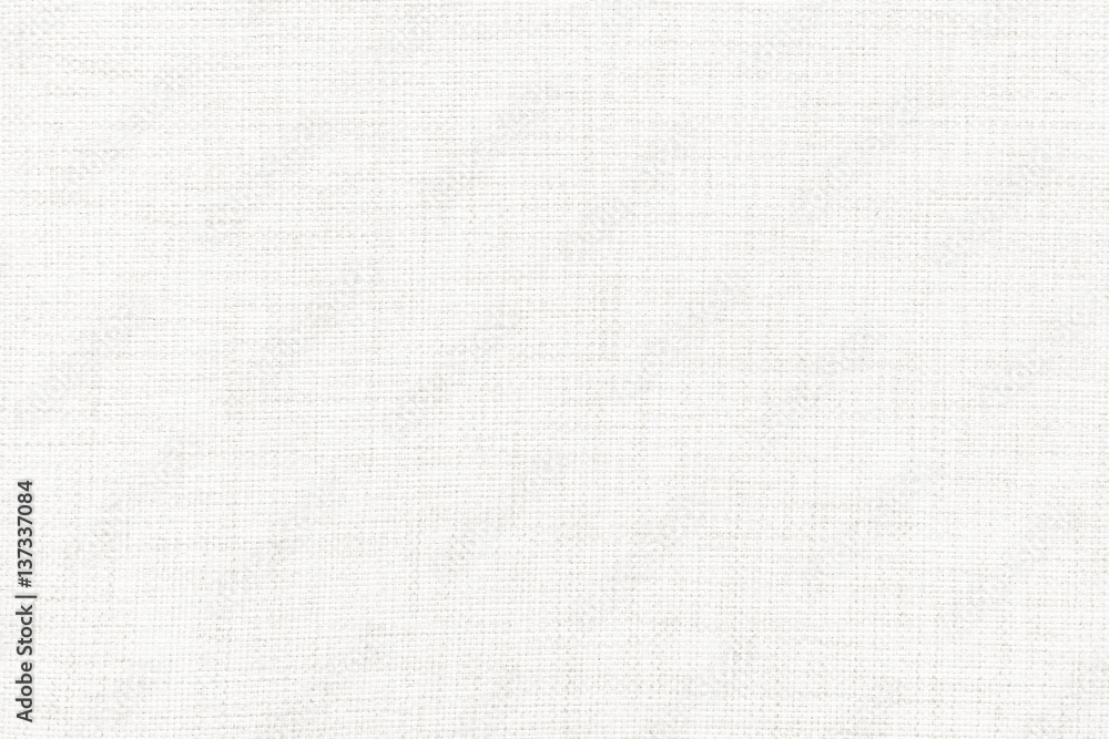 Fototapeta White linen canvas. The background image, texture