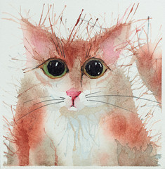 Plakat Watercolour cats.