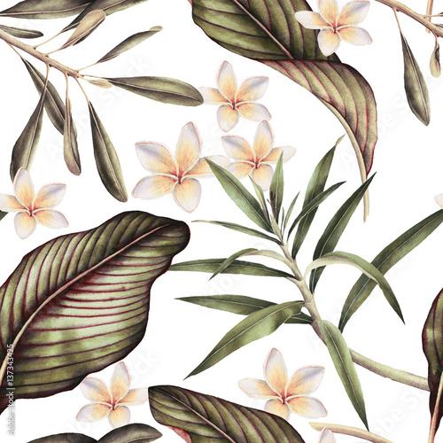 tropikalne-liscie-i-bialy-kwiat