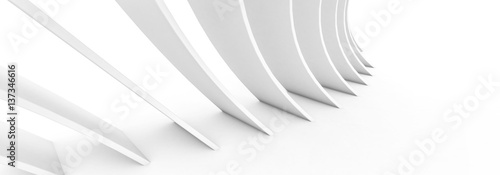 weiße abstrakte Architektur für Hintergrund - white abstract architecture as bac Canvas Print