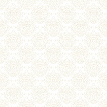 White Damask Texture With Curl...
