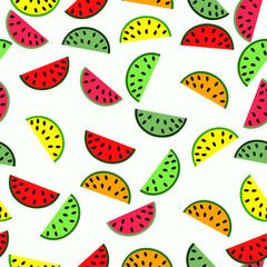 FototapetaSeamless pattern with watermelon background , food vector