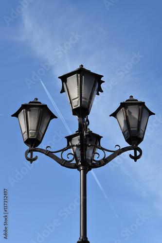 Fototapeta Decorative street lamp obraz na płótnie