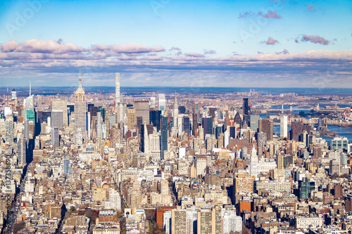 Photo  Skyline aerial view of Manhattan with skyscrapers - New York, USA