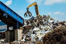 Metal Scrap Yard Machine Recyc...