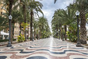 The promenade Explanada, Alicante, Costa Blanca, Valencia, Spain
