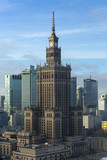 Warsaw city with skyscrapers. - 137375452