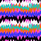 Wzór ręcznie rysowane w paski z zygzakowatymi liniami - 137384223