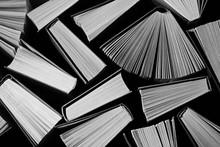 Monochrome Retro Books Background