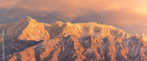Sandia Mountains east of Rio Rancho New Mexico in winter Wallpaper Mural