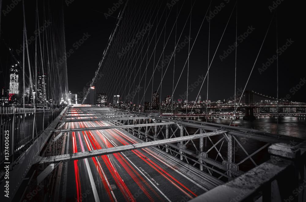Fototapety, obrazy: Brooklyn Bridge Lights