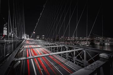 Fototapeta Brooklyn Bridge Lights