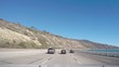 SANTA BARBARA, CALIFORNIA, UNITED STATES OF AMERICA, NOVEMBER 4 Timelapse hyperlapse of driving on route 101, just after Santa Barbara, in California, United states of america