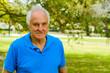 Elderly man outdoor