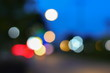 Abstract blurred bokeh colorfu beautiful in night view, with copy space