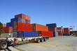 cargo container in import export logistic zone