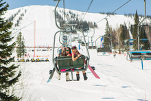 Two Girls On A Ski-lift