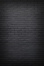 Part Of Black Painted Brick Wall