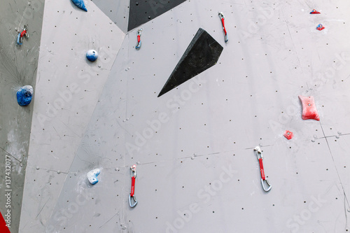 Fototapety, obrazy: Artificial climbing bouldering wall indoors