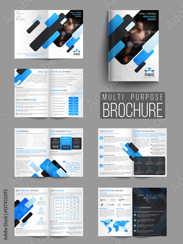 Fitness Brochure Template | Gym Or Fitness Brochure Template Or Flyer Buy This Stock Vector