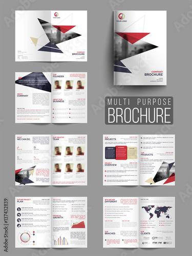 Fototapeta  Professional Multi-Purpose Business Brochure Set.