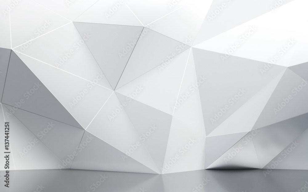 Fototapeta abstract interior wall with polygonal pattern