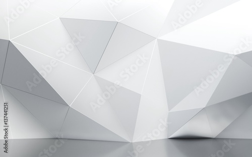Obraz abstract interior wall with polygonal pattern - fototapety do salonu