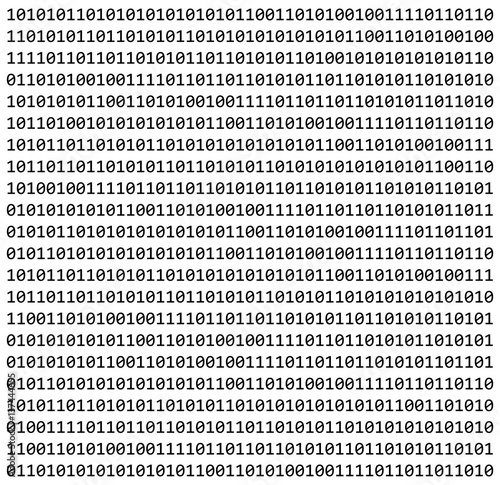Carta da parati binary code zero one matrix white background beautiful banner wallpaper
