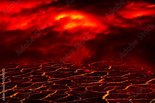 Fotografia, Obraz the surface of the lava. background