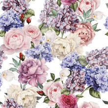 Seamless Floral Pattern With P...