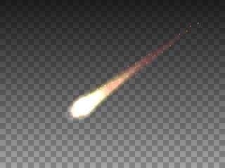 Vector illustration of realistic falling comet