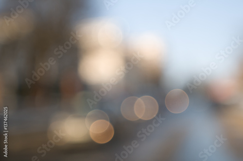 Foto  Traffic abstract background with blurry
