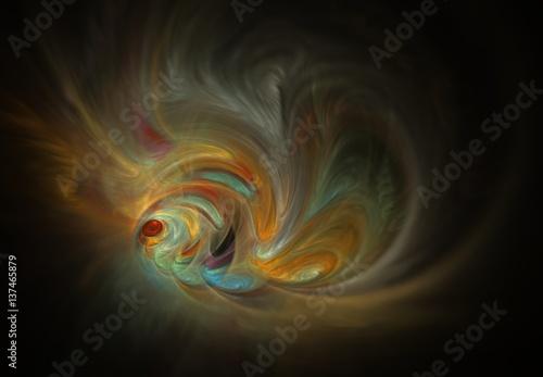Fényképezés  Abstract Fractal Goldfish.