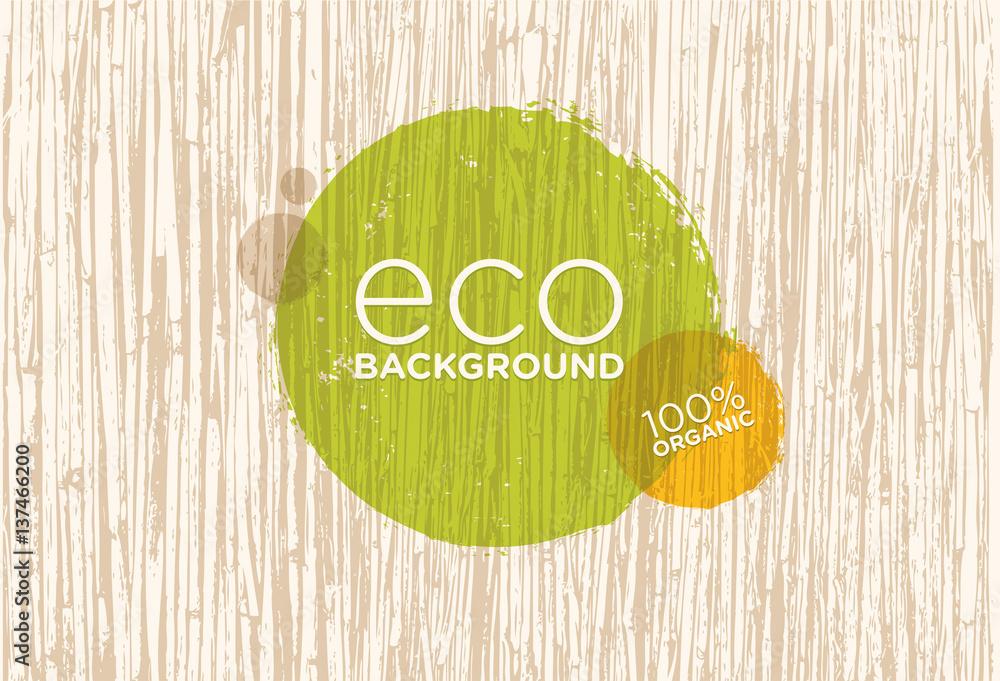 Spa Retreat Organic Eco Background. Nature Friendly Vector Concept