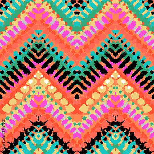 Materiał do szycia Multicolor ręcznie rysowane wzór zygzak