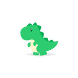 Fototapeta Dinusie - Cute dinosaur tyrannosaurus cartoon vector
