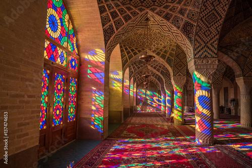 Fotografie, Obraz  Nasir Al-Mulk Mosque in Shiraz, Iran