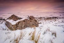 Ingleborough Shooting Hut In Winter