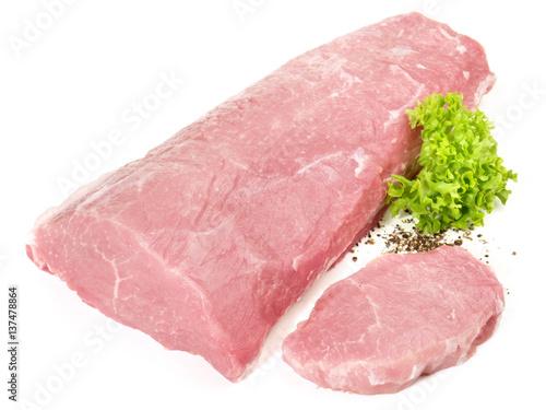 Foto op Canvas Vlees Schweinerücken