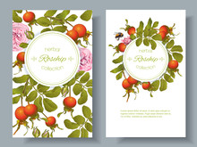 Rose Hip Vertical Banners