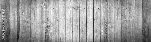 In de dag Panoramafoto s Panorama, old black and white wooden background, painted wood texture
