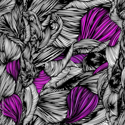 wektor-bezszwowe-fala-doodle-recznie-rysowane-wzor-czarno-bialy-z-fioletowymi-kolorami-moze-byc-stosowany-do-tapety-wzor-wypelnienia-drukowanie-i-tkaniny-tkaniny-i-plotna-tla-tekstury-powierzchni