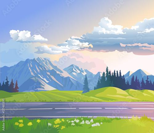 ilustracja-krajobraz-gorski