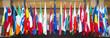 Leinwanddruck Bild - Flags of the European Union