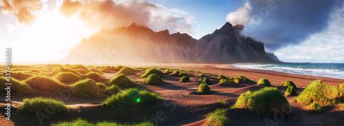 Staande foto Noord Europa Magic sunset on a sandy beach. Beauty world. Turkey
