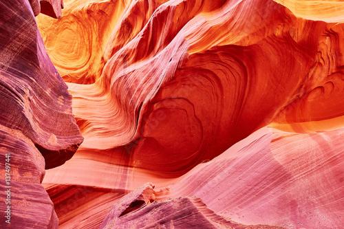 Aluminium Prints Red Lower Antelope Canyon near Page, Arizona, USA