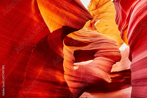 Lower Antelope Canyon in the Navajo Reservation near Page, Arizona, USA Wallpaper Mural