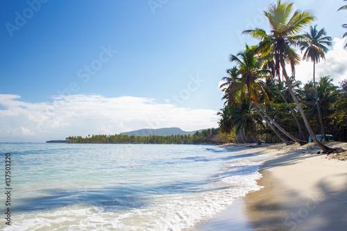 Printed kitchen splashbacks Zanzibar Sunrise on Tropical beach, Las Galeras, Samana, Dominican Republic