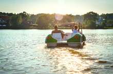 The Couple On The Pedal Boat
